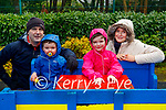 Enjoying the playground in Killarney National park on Sunday, l to r: Patrick, Alfie, Linda and Kenny Palmer.