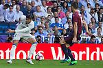 Real Madrid's Alvaro Morata during the match of La Liga between Real Madrid and SD Eibar at Santiago Bernabeu Stadium in Madrid. October 02, 2016. (ALTERPHOTOS/Rodrigo Jimenez)