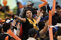BOGOTA - COLOMBIA, 26-05-2018: Seguidores de Ivan Duque, candidato presidencial por el partido Centro Democrático, celebran el triunfo en primera vuelta. Las elecciones presidenciales de Colombia de 2018 se celebrarán el domingo 27 de mayo de 2018. El candidato ganador gobernará por un periodo máximo de 4 años fijado entre el 7 de agosto de 2018 y el 7 de agosto de 2022. / Followers of Ivan Duque, presidential candidate for the Centro Democratico party, celebrate the victory en the first round. Colombia's 2018 presidential election will be held on Sunday, May 27, 2018. The winning candidate will govern for a maximum period of 4 years fixed between August 7, 2018 and August 7, 2022.. Photo: VizzorImage / Gabriel Aponte / Staff