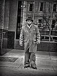 Portrait of man on sidewalk: street photography portrait