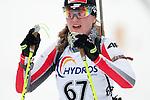 MARTELL-VAL MARTELLO, ITALY - FEBRUARY 02: LEJA Katarzyna (POL) ?after the Women 7.5 km Sprint at the IBU Cup Biathlon 6 on February 02, 2013 in Martell-Val Martello, Italy. (Photo by Dirk Markgraf)