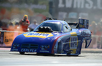 Oct. 27, 2012; Las Vegas, NV, USA: NHRA funny car driver Ron Capps during qualifying for the Big O Tires Nationals at The Strip in Las Vegas. Mandatory Credit: Mark J. Rebilas-