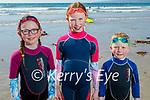 Hitting the waters in Banna on Sunday, l to r: Réiltín, Alannah and Daithí Maddock