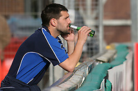 Tommy Doherty of Wycombe Wanderers enjoys a quiet beer after the Chairboys win promotion to Division One during Wycombe Wanderers vs Notts County, Coca Cola League Division Two Football at Adams Park on 2nd May 2009