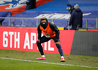 10/13th March 2021; Selhurst Park, London, England; English Premier League Football, Crystal Palace versus West Bromwich Albion; Grady Dianganax of West Bromwich Albion warms up on the touchline