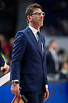 UCAM Murcia's coach Fotios Katsikaris during the first match of the playoff at Barclaycard Center in Madrid. May 27, 2016. (ALTERPHOTOS/BorjaB.Hojas)
