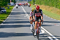 1st July 2021; Chateauroux, France;  VAN AVERMAET Greg (BEL) of AG2R CITROEN TEAM and KLUGE Roger (GER) of LOTTO SOUDAL during stage 6 of the 108th edition of the 2021 Tour de France cycling race