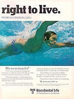 Swimmer, Occidental Life, 1978. Photo by John G. Zimmerman.