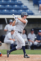 Eric Urry #4 of the BYU Cougars bats against the Pepperdine Waves at Eddy D. Field Stadium on April 10, 2014 in Malibu, California. BYU defeated Pepperdine, 1-0. (Larry Goren/Four Seam Images)