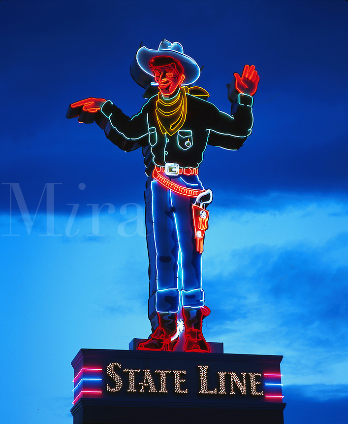 State Line Casino cowboy, Wendover, Nevada