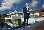 Architect Rene Gonzales photographed at 3 Indian Creek, Miami Beach