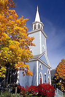 church, Wiscasset, ME, Maine, Philip's Episcopal Church in the fall in the town of Wiscasset.