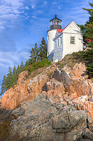 Bass Harbor Head Lighthouse overlooks the entrance to Bass Harbor and Blue Hill Bay in Tremont, Maine.