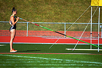 Olivia McTaggert competes in the women's elite pole vault. 2021 Capital Classic athletics at Newtown Park in Wellington, New Zealand on Saturday, 20 February 2021. Photo: Dave Lintott / lintottphoto.co.nz