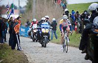 Ronde van Vlaanderen 2013..Jürgen Roelandts' (BEL) decisive solo attack up the Oude Kwaremont on the 3rd (and final) ascent