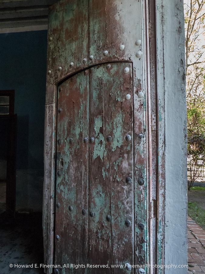 Entry door at Atkinson plantation manor