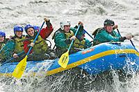 Rafting down the Nenana river, Denali Park, Alaska