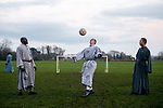 Friars in the same household are able to play a weekly football match as part of permitted excerise