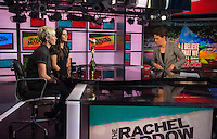 New York, New York - July 9, 2015:  Ali Krieger and Megan Rapine of the USWNT appeared on The Rachel Maddow Show on MSNBC.