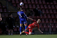 James Brophy of Leyton Orient and Dan Jones of Harrogate Town during Leyton Orient vs Harrogate Town, Sky Bet EFL League 2 Football at The Breyer Group Stadium on 21st November 2020