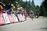 Bauke Mollema (NLD/Trek-Segafrdo) charges towards the finish line<br /> <br /> stage 12: Montpellier - Mont Ventoux (shortened stage due to wind until Chalet Reynard; 178km)<br /> 103rd Tour de France 2016
