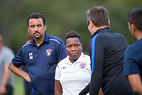 Orlando, FL - Friday Oct. 14, 2016:   Candidates listen to instruction during a US Soccer Coaching Clinic in Orlando, Florida.