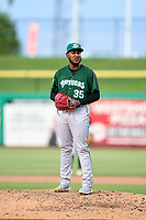 Daytona Tortugas pitcher Miguel Medrano (35) during a game against the Clearwater Threshers on June 24, 2021 at BayCare Ballpark in Clearwater, Florida.  (Mike Janes/Four Seam Images)