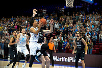 GRONINGEN - Basketbal, Donar - Apollo Amsterdam , Dutch Basketbal League, seizoen 2021-2022, 26-09-2021,  Donar speler Marquis Addison op weg naar score