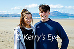 Enjoying a stroll in Banna beach on Tuesday, l to r:  Ciara Jeffers and Eoghan Ryan from Ardfert.