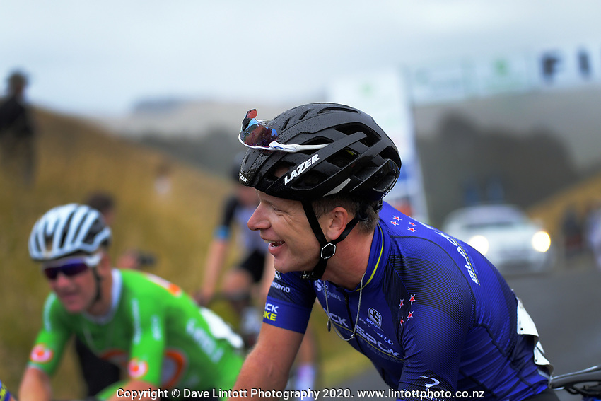 Aaron Gate (New Zealand/Black Spoke Pro Cycling Academy) after stage four of the NZ Cycle Classic UCI Oceania Tour (Te Wharau-Admiral Hill Queen Stage) in Wairarapa, New Zealand on Saturday, 18 January 2020. Photo: Dave Lintott / lintottphoto.co.nz