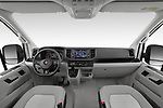 Stock photo of straight dashboard view of 2020 Volkswagen Grand-California 600 4 Door Refrigerated Van Dashboard