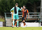 St Johnstone v Dundee United…22.08.21  McDiarmid Park    SPFL<br />Marc McNulty and Trevor Carson celebrate at full time<br />Picture by Graeme Hart.<br />Copyright Perthshire Picture Agency<br />Tel: 01738 623350  Mobile: 07990 594431