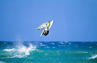 Windsurfer in the air, North shore Oahu