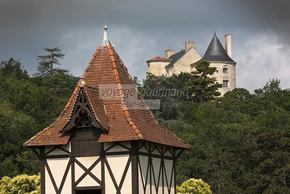 Europe/France/Aquitaine/47/Lot-et-Garonne/Buzet-sur-Baïse:  Pigeonnier et le château des seigneurs de Buzet (XIIIe-XVIIIe)