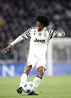 Juventus' Juan Cuadrado kicks the ball during the Champions League round of 16 soccer match against Porto at Turin's Juventus Stadium, 14 March 2017. Juventus won 1-0 (3-0 on aggregate) to reach the quarter finals.<br /> UPDATE IMAGES PRESS/Isabella Bonotto