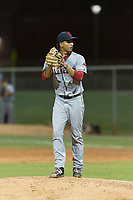 AZL Indians 2 starting pitcher Carlos Vargas (64) gets ready to deliver a pitch during an Arizona League game against the AZL Cubs 2 at Sloan Park on August 2, 2018 in Mesa, Arizona. The AZL Indians 2 defeated the AZL Cubs 2 by a score of 9-8. (Zachary Lucy/Four Seam Images)