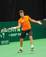 07-02-12, Netherlands,Tennis, Den Bosch, Daviscup Netherlands-Finland, Training, Jean-Julian Rojer