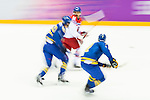Sweden vs Czech Republic during their Men's Ice Hockey Preliminary Round Group C game on day five of the 2014 Sochi Olympic Winter Games at Bolshoy Ice Dome on February 12, 2014 in Sochi, Russia. Photo by Victor Fraile / Power Sport Images