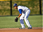 Fort Worth Cats Infielder  Cory Morales (18) in action during the American Association of Independant Professional Baseball game between the Amarillo Sox and the Fort Worth Cats at the historic LaGrave Baseball Field in Fort Worth, Tx. Fort Worth defeats Amarillo 5 to 3.