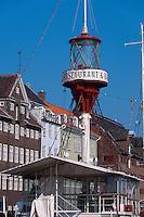 Daenemark, Restaurant Feuerschiff auf dem Nyhavn in  Kopenhagen