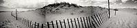 Dune fence on beach panorama<br />