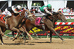 I'm Mom's Favorite with Sheldon Russell with win the 28th running 0f the Ms. Preakness for 3-year old fillies, going 6 furlongs, at Pimlico Race Course.  Trainer Anthony Dutrow  Owners CJZ Racing Stable