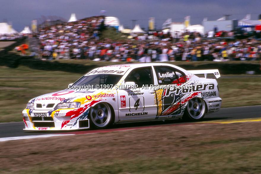 1997 British Touring Car Championship. #4 David Leslie (GBR). Vodafone Nissan Racing. Nissan Primera.