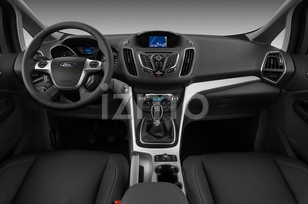Straight dashboard view of a 2011 Ford Grand C-Max Titanium Mini MPV  .