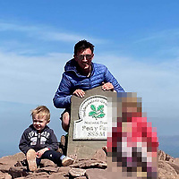 Pictured: Guto Sior Jenkins (C) with his three year old son Ianto Jenkins. <br /> Re: Three year old Ianto Jenkins has died after an incident at a farm near Efailwen, west Wales, UK.<br /> Emergency services were called to the property in Carmarthenshire at about 7pm on Tuesday (03 August 2021) after reports a child had been hit by a farm vehicle.<br /> Dyfed-Powys Police confirmed the boy had died at the scene and an investigation had been launched into how it happened.