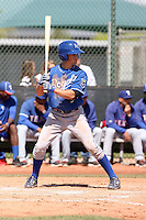 Whit Merrifield of the Kansas City Royals  plays in minor league spring training game against the Texas Rangers at the Rangers minor league complex on March 22, 2011  in Surprise, Arizona. .Photo by:  Bill Mitchell/Four Seam Images.