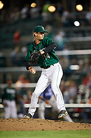 Fort Wayne TinCaps relief pitcher Caleb Boushley (14) delivers a pitch during a game against the West Michigan Whitecaps on May 17, 2018 at Parkview Field in Fort Wayne, Indiana.  Fort Wayne defeated West Michigan 7-3.  (Mike Janes/Four Seam Images)