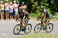 July 9th 2021. Carcassonne, Languedoc, France;   VAN AERT Wout (BEL) of JUMBO - VISMA, TEUNISSEN Mike (NED) of JUMBO - VISMA during stage 13 of the 108th edition of the 2021 Tour de France cycling race, a stage of 219,9 kms between Nimes and Carcassonne.