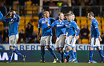 St Johnstone v Ross County...15.03.14    SPFL<br /> Steven Anderson's celebration turns to despair as his goal is disallowed<br /> Picture by Graeme Hart.<br /> Copyright Perthshire Picture Agency<br /> Tel: 01738 623350  Mobile: 07990 594431