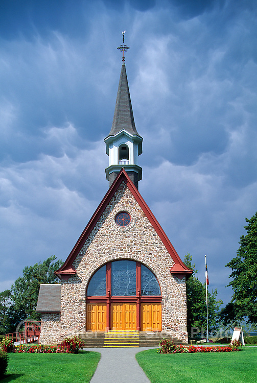 Grand Pre National Historic Site (NHS) and UNESCO World Heritage Site, Grand-Pre, NS, Nova Scotia, Canada - Acadian Memorial Church (built 1922) on Evangeline Trail